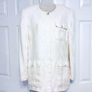 Vintage LIZ Linen Jacket ~ 10
